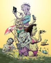 Zombies on a Beach